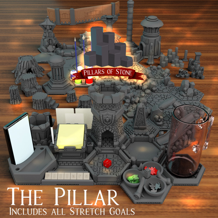 Pillars of Stone - 3D Printable Tabletop Accessories's Cover