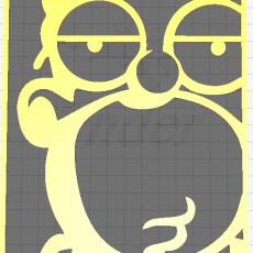 Cuadro Homero Simpson