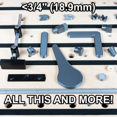 3/4'' / 19mm (18.9mm) Bench Dog Set with Levers, Cams, Stops, etc