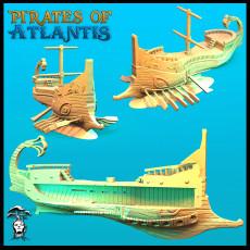 Atlantean Trireme - Pirate Ship