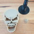 Skull headphones stand image