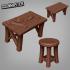 Workshop Table & Stool image