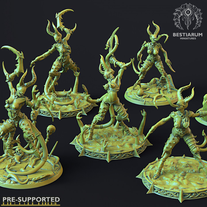 Lesser Demonettes x6 + Bases x5