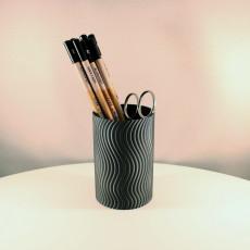 Wavy Pencil Holder (Vase Mode)