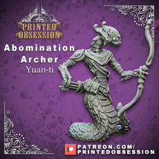 Yaun-ti Abomination - Archer - PRESUPPORTED - 32mm - D&D