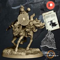 Dark Spearman Mounted - Presupported