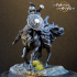 Dark Spearman Mounted - Presupported image