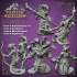 Yuan-ti Forgotten Tribe Pack - 6 pre supported miniatures - D&D - 32mm scale image