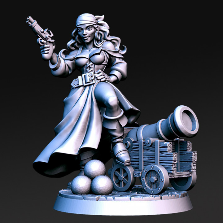 Shelly- Female Pirate- 32mm - DnD