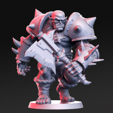 Orktar- Orc Chieftain- 32mm - DnD -