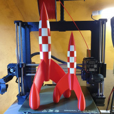 Tintin Rocket (stronger and conform to drawings)