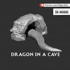Dragon in a cave