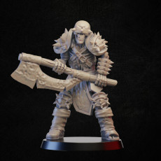 Skeleton warrior with axe