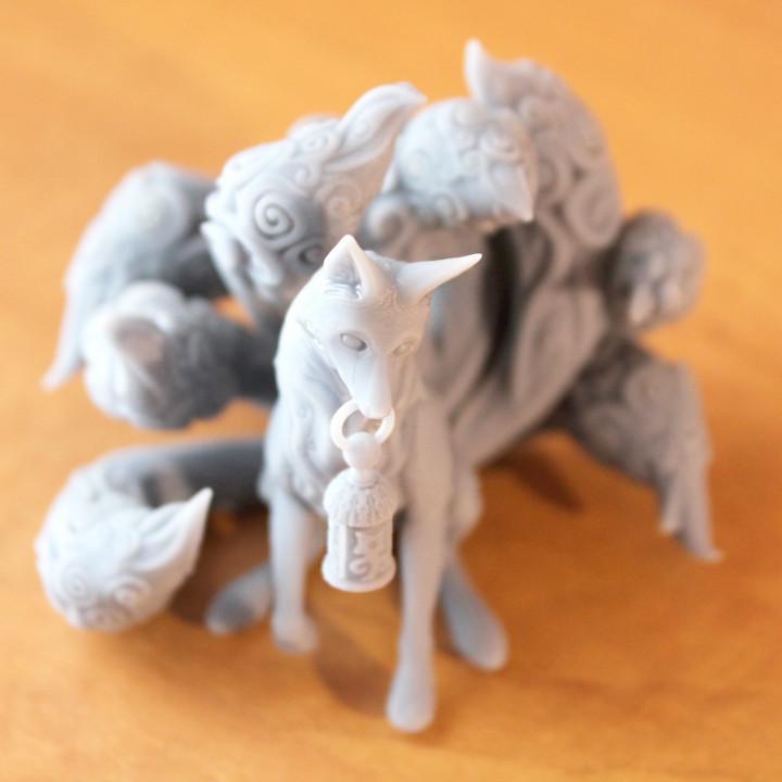 Kitsune - 9 tailed fox Miniature (60mm)
