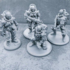 Picture of print of ASTROS JARHEAD PACK + ROBOT