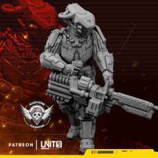 Cyberpunk soldier BSC operator 'The Flash'