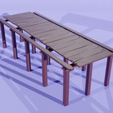 Wooden Board Bridge