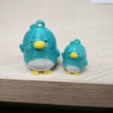 Real Penguin Keychain