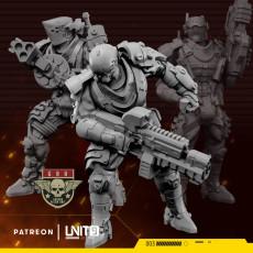 Cyberpunk soldiers GRU team (3 members)