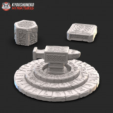 Props -  Anvil of Doom stationary and Oath Stones