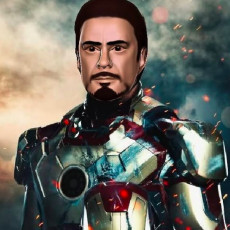 Tony Stark - Head for OpenFigure3D Iron Man