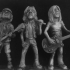 """Rock God Collection - Bonn Scott, Malcolm Young and Angus Young - A Collection of pop Culture Inspired Big Head Figure Inspired """"big head"""" Figures image"""