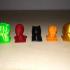 Avengers pawns - Hulk, Dr Strange, Spiderman, Ironman, Blackpanther image