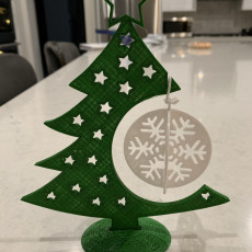 Picture of print of Christmas Bauble display tree