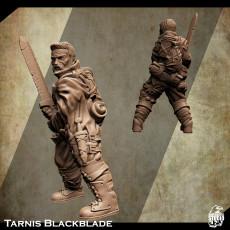 Support Free Warrior Miniature Tarnis Blackblade