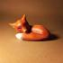 Cute Sleeping Fox image