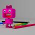 Pencil sharpener girl image