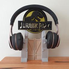 Jurassic Park Headphones Stand or Ornament