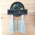 Jurassic Park Headphones Stand or Ornament image