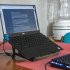 Collapsible Laptop Stand For Use with a Keyboard image