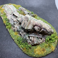 Picture of print of Fallen Norse Statue Sword Ruins (pre-supported)