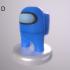 Among Us Mini - Customizable Character with Mandalorian Hat image