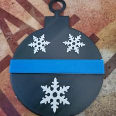 Thin blue line Christmas tree ornaments.