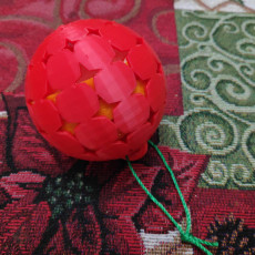 Picture of print of Christmas Star Ornament with Removable Lid