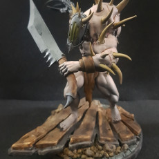 Picture of print of Grotesque Monstrosity 04 with flesh claw, Cursed Elves