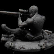 Picture of print of Cyberpunk Scout with sniper (pre-supported)