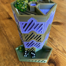 Picture of print of Hex Dice Tower