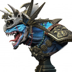BUST AZUL ANOK LOYAL-BEYOND-DEATH + PERSONAL STAND