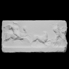 Base of a statue: Alexander The Great hunting