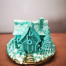 Picture of print of Christmas Cottage