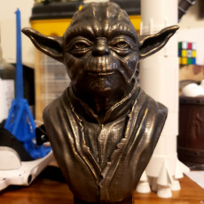 Picture of print of Master Yoda Bust