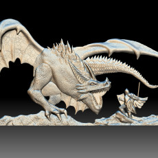 Dragon Knight 3d model bas-relief for CNC router printable