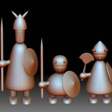 Vikings Denmark Jacob Jensen printable models - solid and divided into parts