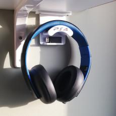 PS4 Headphones under shelf stand