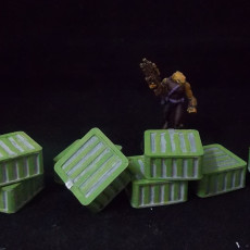 Sci-fi Square Cargo Containers