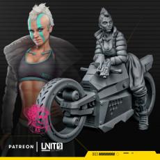 Cyberpunk Gun Desire on motorcycle